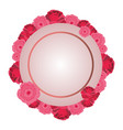 cute roses round icon vector image vector image