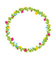cute thin spring floral wreath with berries and vector image vector image