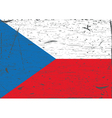 Czech flag grunge vector image vector image