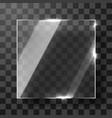 empty square transparent glass framework modern vector image vector image