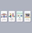 end coronavirus quarantine mobile app vector image