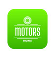 engine motor icon green vector image vector image