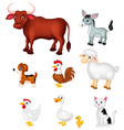 Farm animal collection set vector image vector image