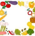 Flat design healthy eating concept vector image vector image