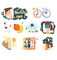 flat set of cartoon infographic elements vector image vector image