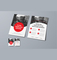 flyer template with round red elements and place vector image vector image