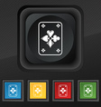 Game cards icon symbol Set of five colorful