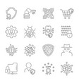 gdpr data privacy icons set included the vector image