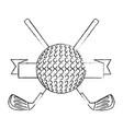 golf sport emblem vector image vector image