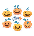 halloween of collection decorative orange an vector image vector image