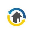 home restoration logo design after disaster vector image vector image