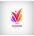 human logo group of people colorful icon vector image vector image
