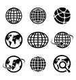 icon globes vector image vector image