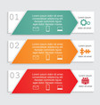 Infographic card report template vector image vector image