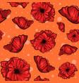 layered poppy flowers vector image