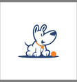 logo cartoon dog vector image