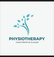 logo modern physiotherapy vector image