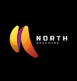 logo north gradient colorful style vector image vector image