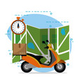 mail delivery service vector image