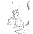 Map the english lands uk great britain