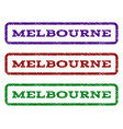 melbourne watermark stamp vector image