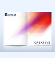 modern template for bi fold brochure vector image vector image