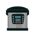 multifunctional multicooker of metal color with vector image vector image