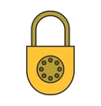 Padlock Flat color icon lock Object of safety vector image vector image