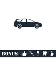 Passenger car icon flat vector image