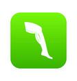 plastic surgery of legs icon digital green vector image vector image