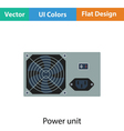 Power unit icon vector image
