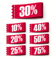 price-tag labels red discount labels super sale vector image vector image