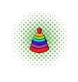 Pyramid toy icon comics style vector image vector image