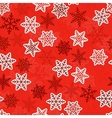 Red seamless snowlakes pattern For design vector image vector image