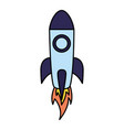 rocket launch on white background vector image vector image