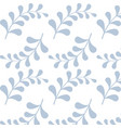 seamless pattern with light blue branches pattern vector image vector image