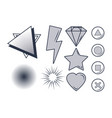set of videogames items vector image vector image