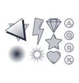set videogames items vector image