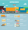 shipping services infographics in flat style vector image