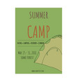 summer camp flyer template vector image