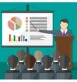 Training staff meeting report business school vector image vector image