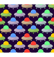 UFO seamless pattern Color space Flying Saucer vector image vector image