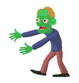 walking zombie icon cartoon style vector image vector image