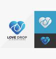 water love drop logo design modern logo designs vector image vector image
