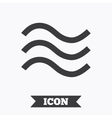 Water waves sign icon Flood symbol vector image vector image