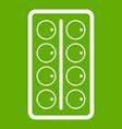 watercolor icon green vector image vector image