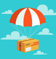 delivery service concept flat design colored vector image