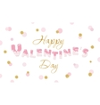 Happy Valentine s Day quote on glitter confetti vector image