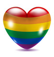 Heart shaped gay symbol vector image