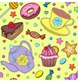 sweets teapot and cup vector image